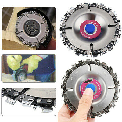 4 Inch 22 Tooth Fine Cut Round Disc Chain Saw Set for 100/115cm Angle Grinder UK