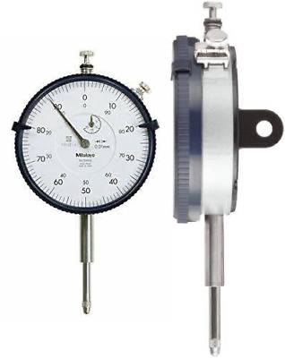 Mitutoyo 3050S Large Diameter Dial Indicator, 20 mm (1 mm)