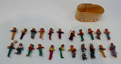"""LOT 22 Tiny Guatemalan Figurines People Farm Workers 1"""" approximately"""