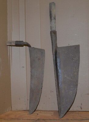 blacksmith forged & stamped huge knife whaling tool froe chopper collectible lot