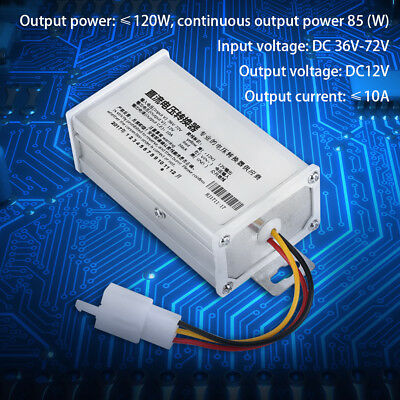 DC 36V-72V To 12V 10A 120W Converter Adapter Transformer For Electric Scooter