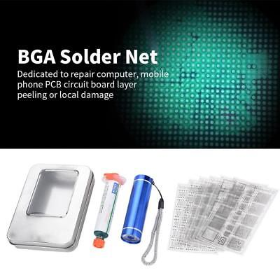 Solder Mask Net Reball Stencil for CPU Repair BGA Chip Paint-Shedding Tool Set