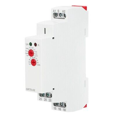 1PC GRT8-A2 Single Din Rail Delay Time Relay Timer Control AC/DC12-240V 50/60Hz