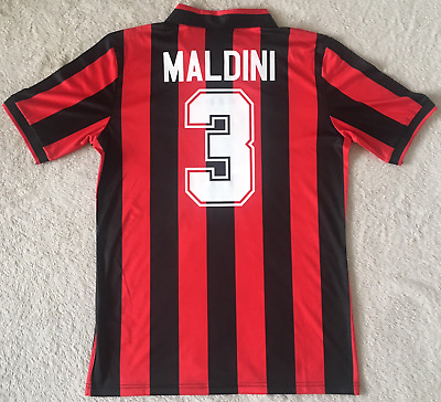 MALDINI Retro Football Shirt AC Milan 1990-1991 Classic Home Soccer Jersey Top