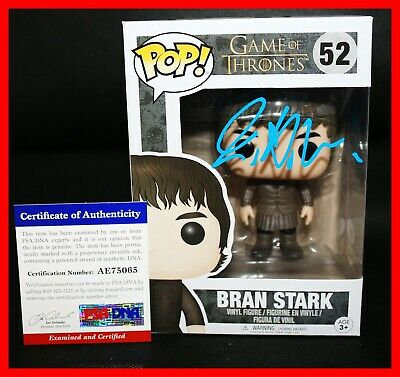 Isaac Hempstead Wright Signed Autograph Bran Stark Game of Thrones Funko POP PSA
