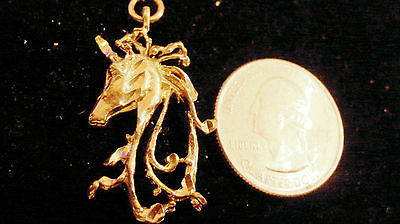 bling gold plated stonehenge myth legend unicorn charm hip hop necklace jewelry