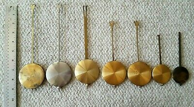 Lot of 7 CUCKOO CLOCK Gold Color PENDULUMS, Different Sizes