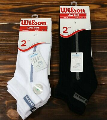 MENS QUALITY WILSON TAB BACK TRAINER SOCKS WHITE GREY ARCH SUPPORT BREATHABLE