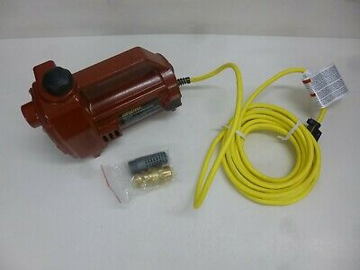 "NEW!!1/2 HP Utility Pump, 115 Voltage, 3/4"" GHT Inlet, 3/4"" GHT Outlet"