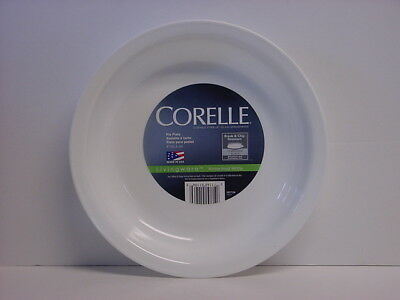 "Corelle Deep Dish 9"" Pie Serving Plate Winter Frost White Multi-Purpose Bowl New"