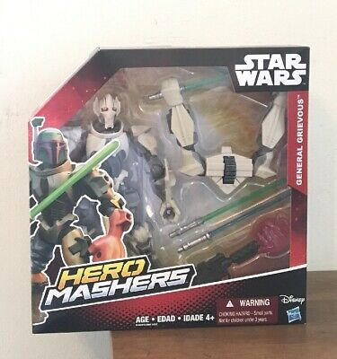 Star Wars Hero Mashers Episode III General Grievous Figure New