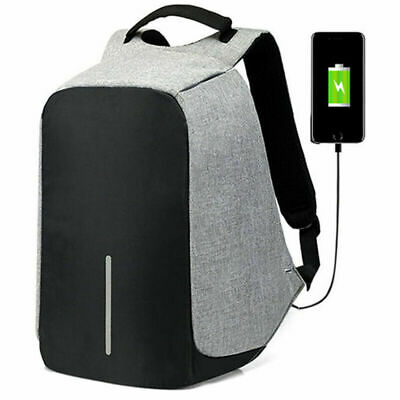 Men Women Anti Theft USB Charging Laptop Backpack Waterproof Travel School Bag