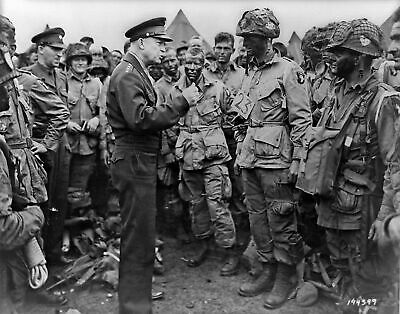 WWII General Dwight D. Eisenhower on D-Day. Canvas Photo .  11x14 Print