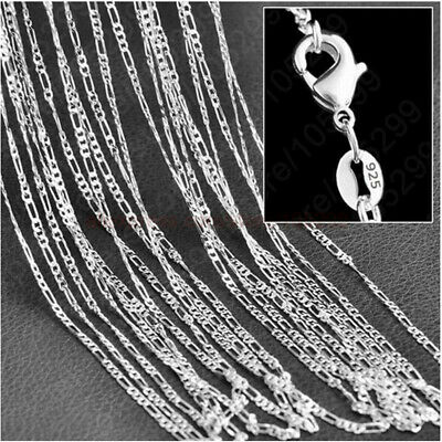 Wholesale 925 Silver Plated Chain Necklace Women Men Collar 16''-30'' inch