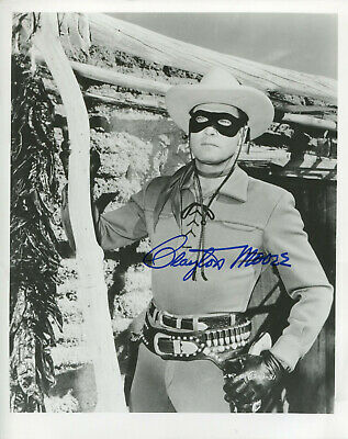 "CLAYTON MOORE - Great Photo as ""The LONE RANGER"" - SIGNED"