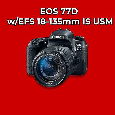Canon EOS 77D w/EFS 18-135mm IS USM Lens Digital SLR Camera