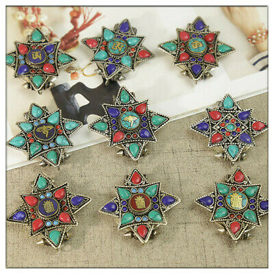 57x58mm Natural Turquoise Necklace Pendant Diy Jewelry Making Gift Elegant