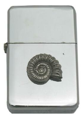 Ammonite Windproof Petrol Lighter FREE ENGRAVING Sea Life Gift 428