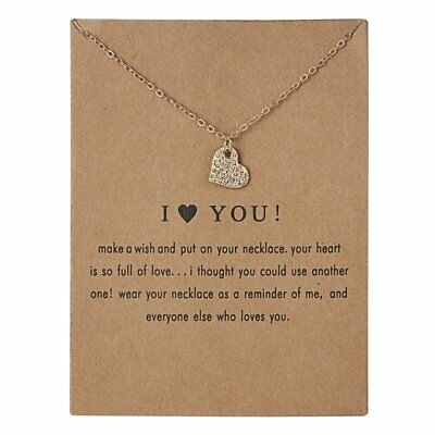 Fashion Love Heart Pendant Necklace Clavicle Chains Womens Charm Jewellery Gift