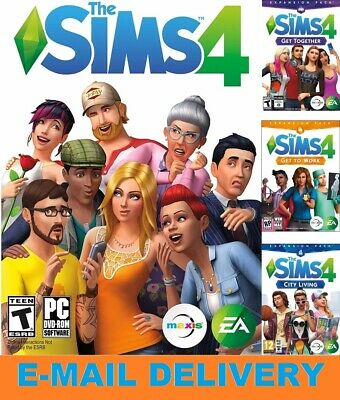 The Sims 4 + 5 DLC Collection / Digital Download Account/ PC/MAC / MULTILANGUAGE