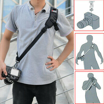 QUICK STRAP Camera Single Shoulder Belt Sling For DSLR Cameras Canon Sony Nikon