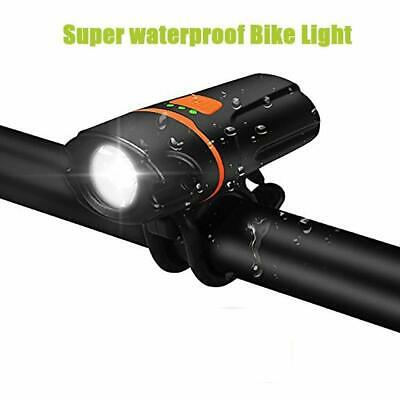 Rechargeable LED Bike Bicycle Light USB Waterproof Cycle Front Headlight New