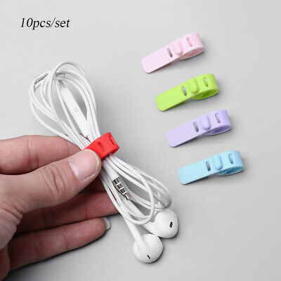 Silicone Cable Winder Cord Clip Earphone Cable Ptotector USB Wire Tie