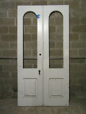 ~ Antique Carved Walnut Double Entrance French Doors ~ 51 X 99 ~ Salvage