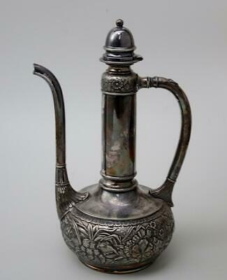 Antique Wilcox Aesthetic Orientalism Silver Plated Ewer