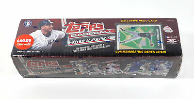 2017 Topps Baseball Factory Set with Derek Jeter 1993 Topps Style Relic