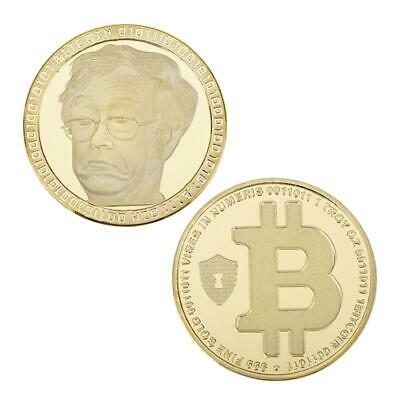 BTC Gold Plated Bitcoin Coin Collectible Gift Coin Art Collection Physical Gift'
