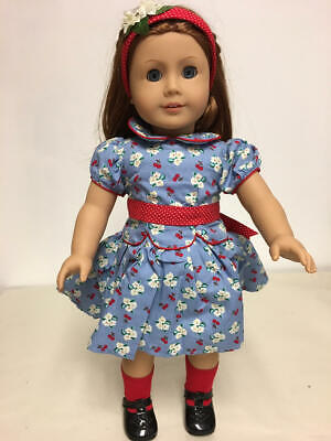 American Girl Pleasant Company Emily Doll In Meet Outfit Clean!