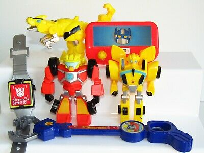 TRANSFORMERS Rescue Bots UK Magazine Promotional Toy Bundle  Bumblebee Hot Shot