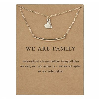 Fashion Gold Family Pendant Necklace Clavicle Chains Womens Jewellery Gift Party