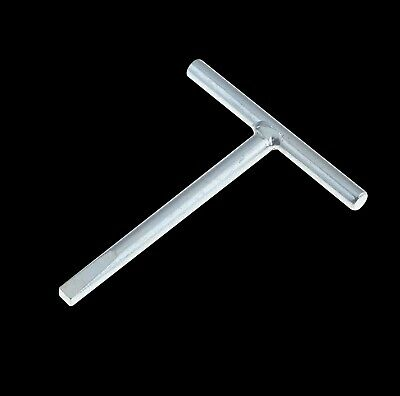 Steel Budget Lock T Key - Tapered 6.5mm for Meter & Riser Cupboards