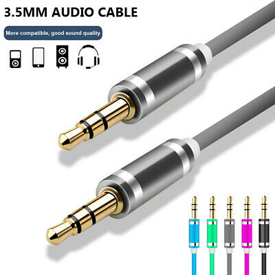 Premium 3.5mm Jack Stereo Headphone Wire Male to Male Car Audio Cable Aux Cord