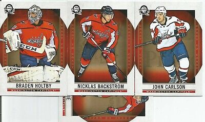 Lot of 50 Washington cards, 2019 OPC, Ovechkins, gold, Backstrom, Holtby,Inserts