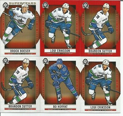 Lot of 50 Vancouver cards, 2019 OPC, RCs, Boeser, GU jersey, Inserts,Horvat, red