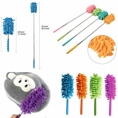Telescopic Microfiber Feather Duster Extendable Clean Dust Home Office Tools New