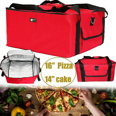 For 16'' Pizza Delivery Bag Heavy Duty Insulated Thermal Food Storage Holder  !