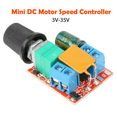 Mini DC Motor PWM Speed Controller 5A 4.5V-35V Speed Control Switch LED DimmerB$