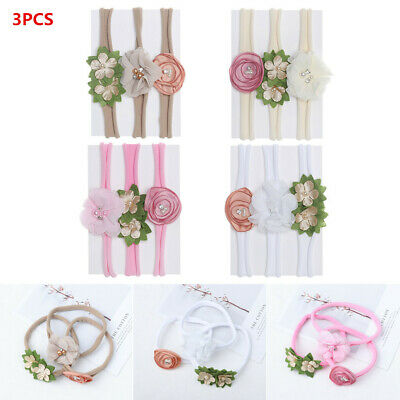 3 PCS/Set Baby Girls Headband Multi Colors Bow Knot Toddlers Head wear Hair Band