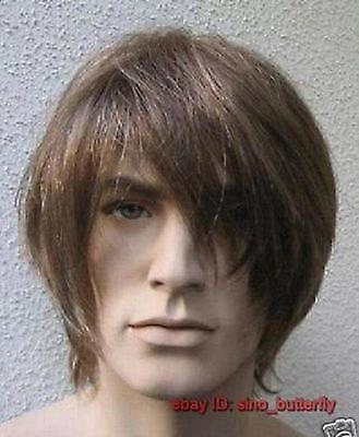 Cosplay Wigs,Fashion Handsome Brown Short Straight Healthy Men's/Boy's Hair Wig