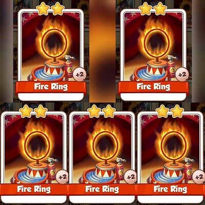 5 x Fire Ring :- Coin Master Cards ( Fastest Delivery )