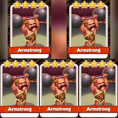 5 x Armstrong :- Coin Master Cards ( Fastest Delivery )