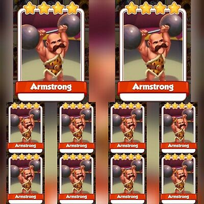 10 x Armstrong :- Coin Master Cards ( Fastest Delivery )