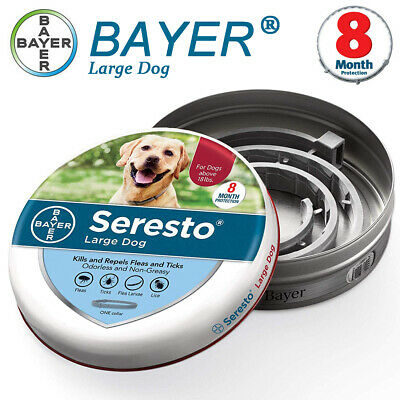 Bayer Seresto Flea and Tick Collar for Large Dog, Over 18 lb, 8 Month Protection