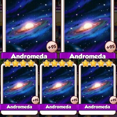 5 x Andromeda :- Coin Master Cards ( Fastest Delivery )