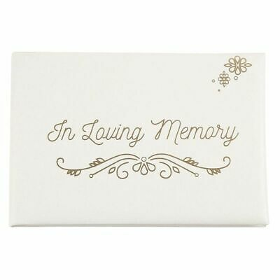 In Loving Memory Funeral Guest Book, Condolence Memorial Remembrance Book, White