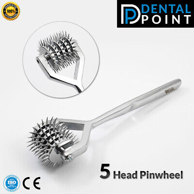 Wartenberg Sensory Diagnostic Neurological Pinwheel 5 Head steel Pin Wheel